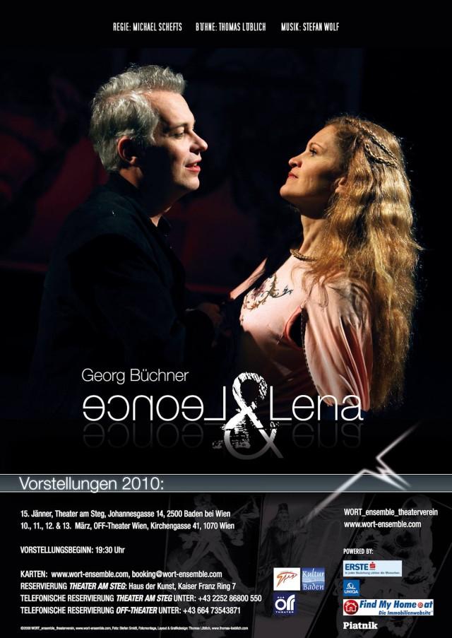 """Das Aushangplakat zu Georg Büchners """"Leonce & Lena"""""""