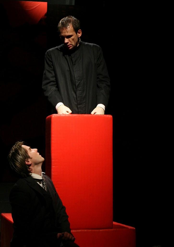 """WORT_ensemble 2008: Paul König & Oliver Baier in """"Der Proceß"""""""