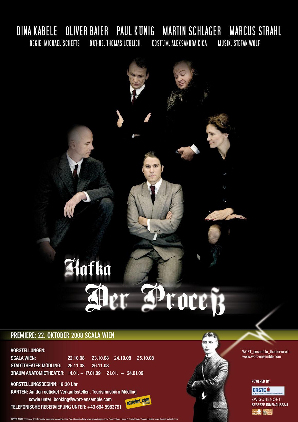 """Das erste Aushangplakat zu Franz Kafkas """"Der Proceß"""""""