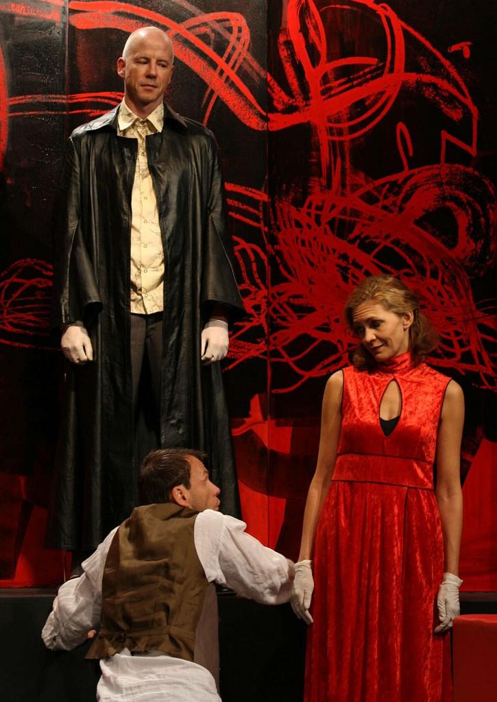 """WORT_ensemble 2008: Martin Schlager, Oliver Baier & Dina Kabele in """"Der Proceß"""""""