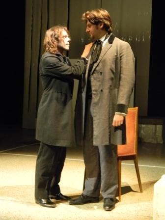 """WORT_ensemble 2010: Nicho Harras & Nik Raspotnik in """"Frankenstein"""""""