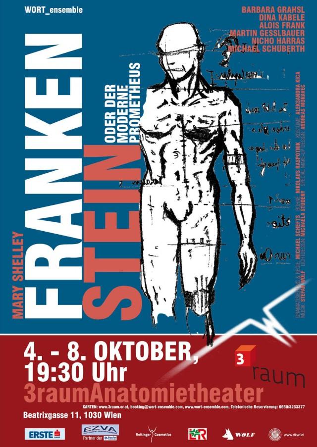 """Das preisgekrönte Plakat zu Mary Shelleys """"Frankenstein oder der moderne Prometheus"""""""